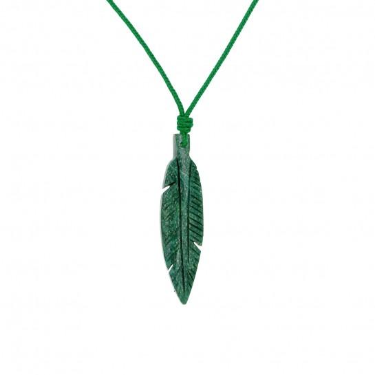 Collier Plume jade
