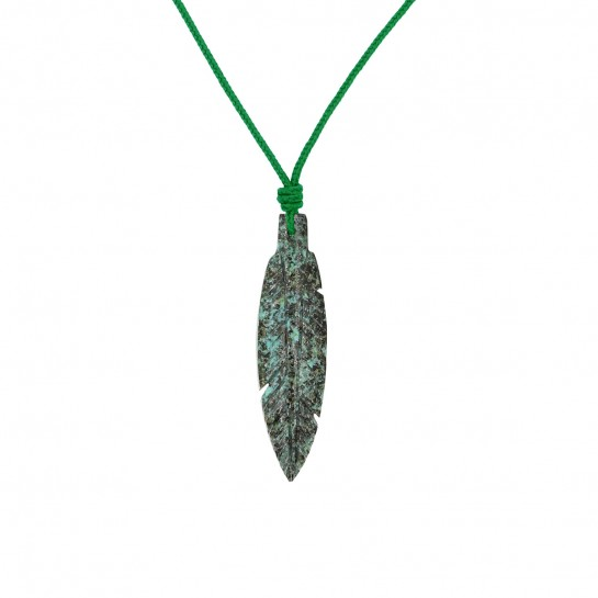 Collier Plume turquoise...