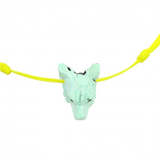 Collier Loup turquoise