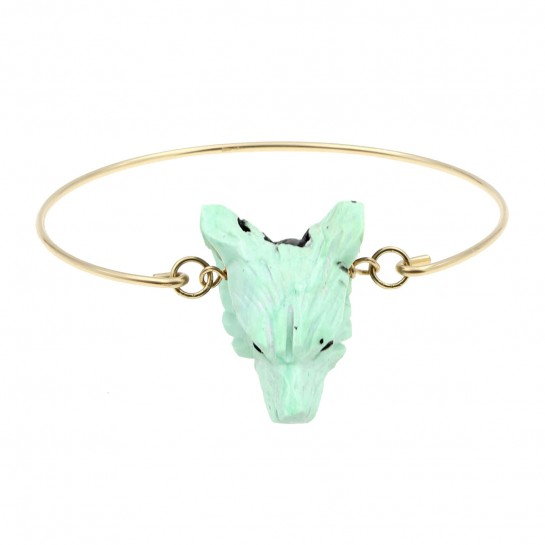 Bracelet Loup  turquoise