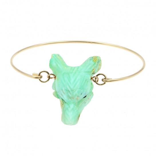 Bracelet Loup chrysoprase
