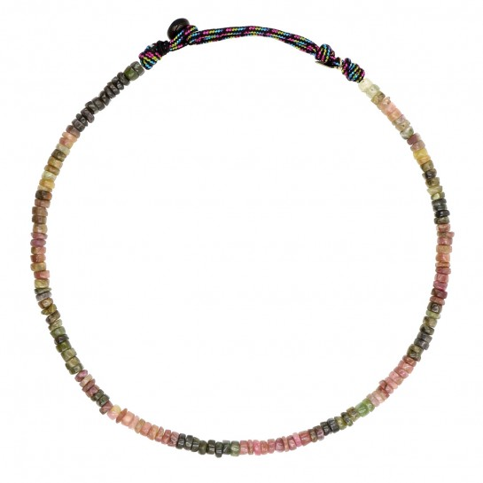 Collier Puka simple tourmaline