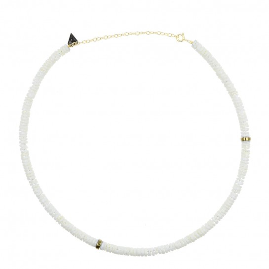 Collier Puka simple coquillage