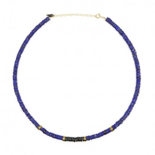 Collier Puka lapis-lazuli