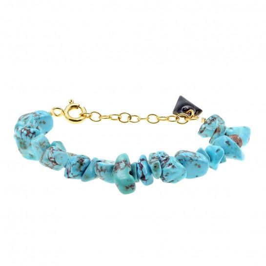 Bracelet Facettes turquoise