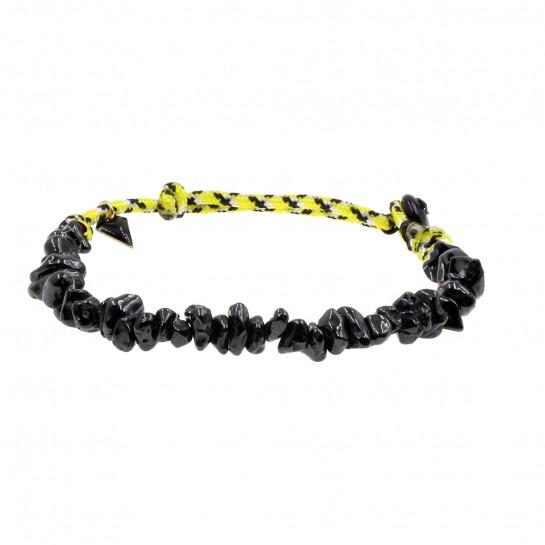 Bracelet Facettes onyx
