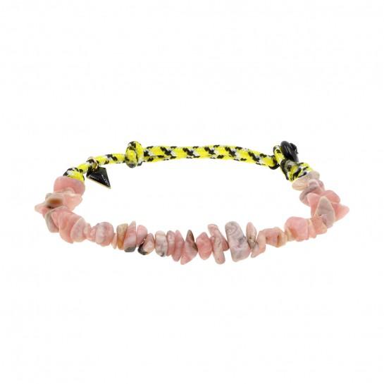 Bracelet Facettes opale rose
