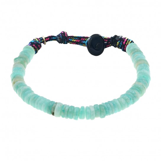 Bracelet Puka simple amazonite
