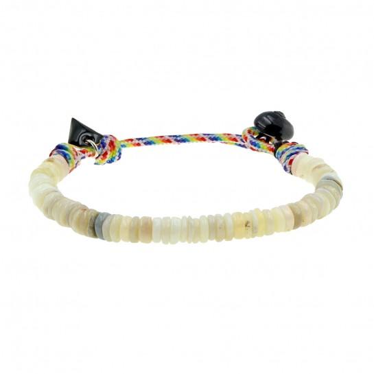 Bracelet Puka simple opale...