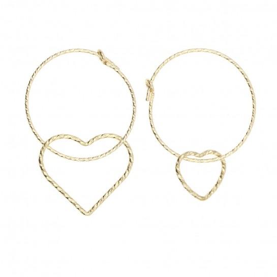 B.O Coeur diamantée Gold...