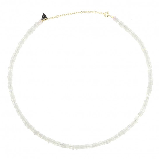 Collier Puka simple pierre...