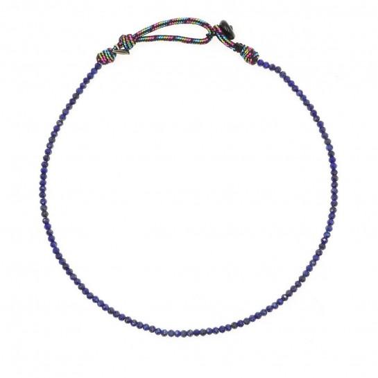 Collier Facettes lapis-lazuli