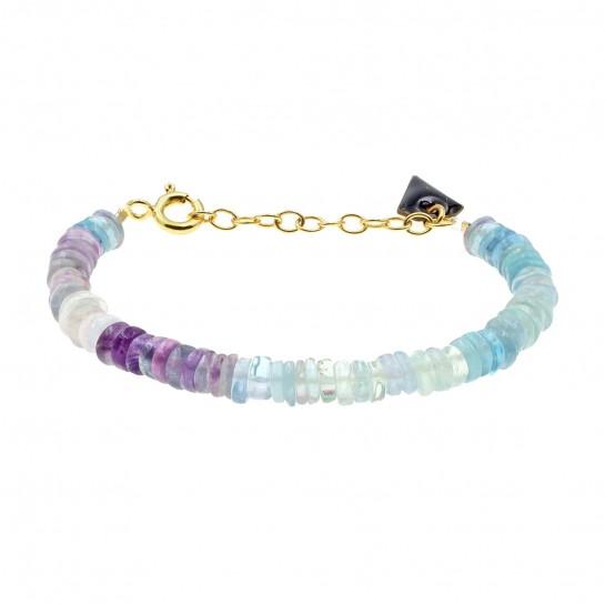 Bracelet Puka simple fluorite