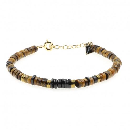 Bracelet Puka oeil de tigre