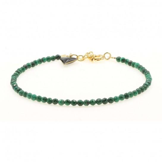 Bracelet Facettes malachite