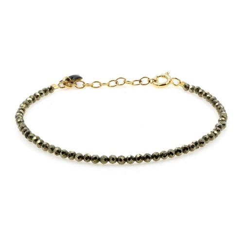 Bracelet Facettes pyrite