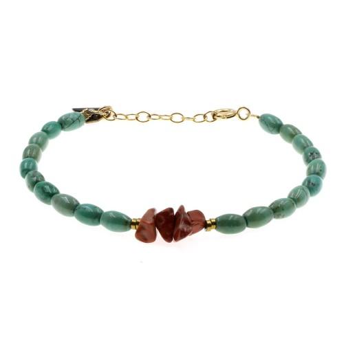 Bracelet Facettes turquoise...