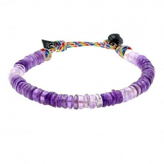 Bracelet Puka simple améthyste