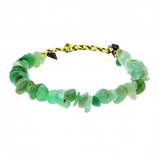 Bracelet Facettes chrysoprase