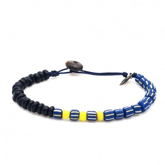 Bracelet Homme bleu rayé et...