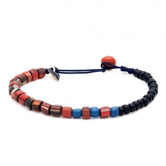 Bracelet Homme rouge et noir