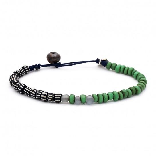 Bracelet Homme vert et noir...