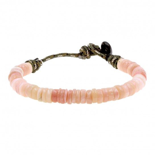 Bracelet Puka simple opale