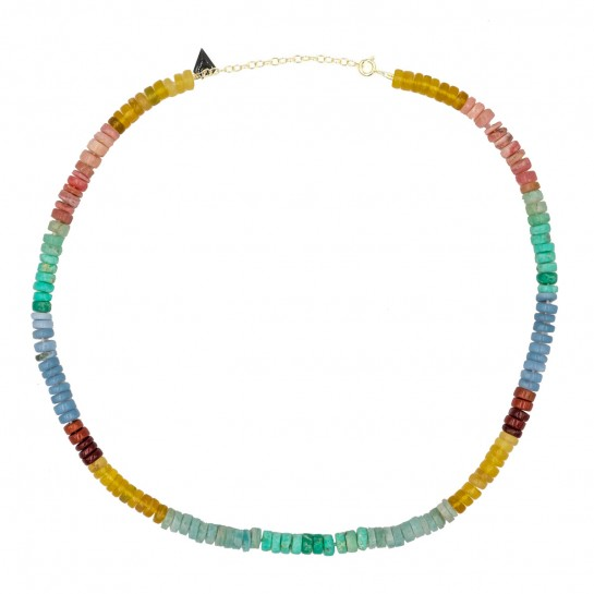 Collier Puka simple opale...