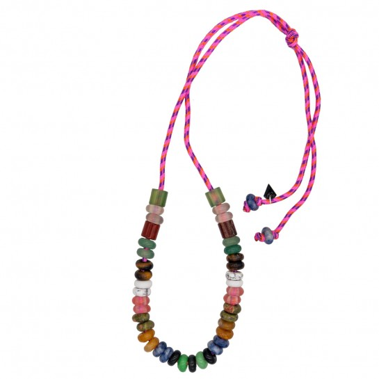 Collier Maxicool rose fluo