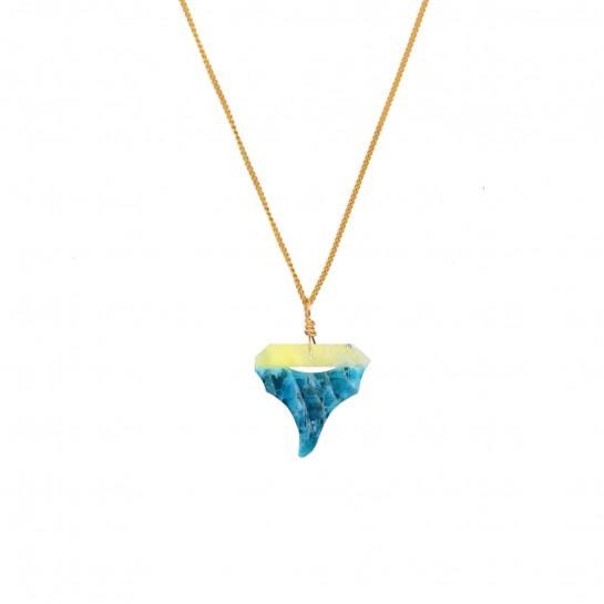 Collier sautoir Shark jade...