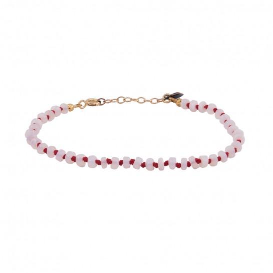 Bracelet Candies opale blanche