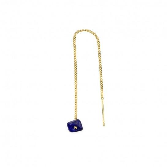 boucle d'oreille rocher roucas  en lapis lazuli couleur  bleu