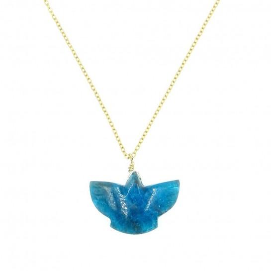 collier condor en apatite dark couleur  bleu foncé