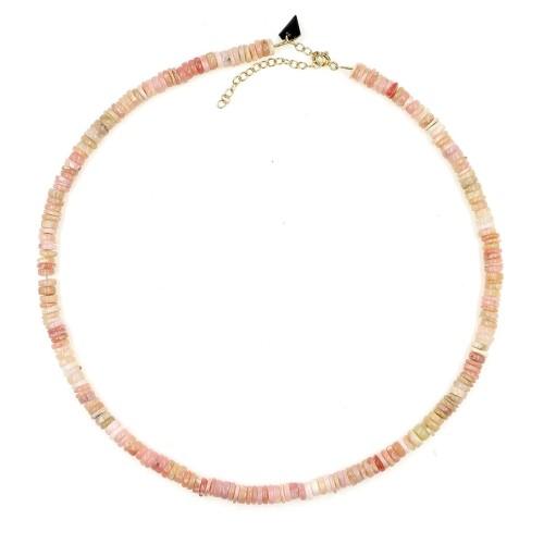 Collier Facettes en opale