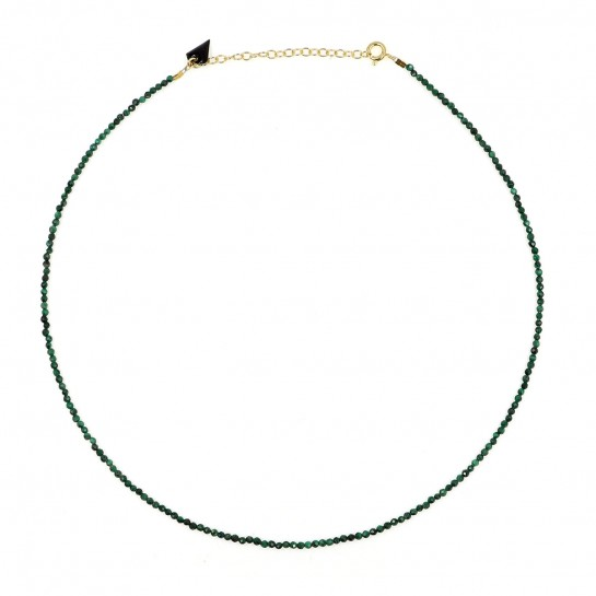 Collier Facette malachite