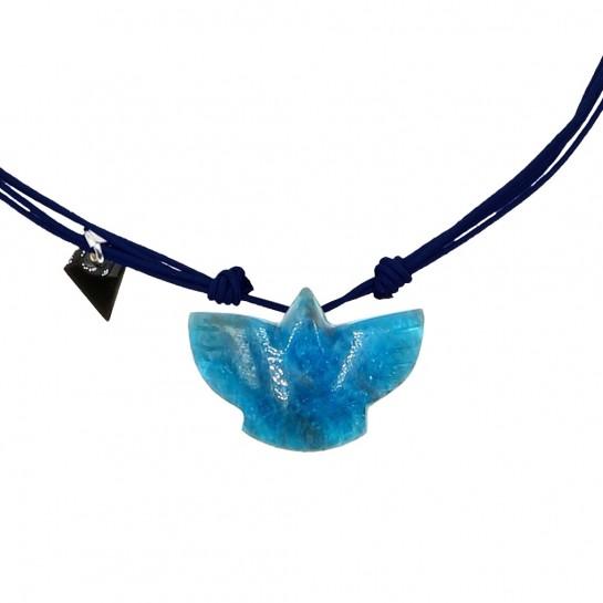Collier Condor apatite bleu...